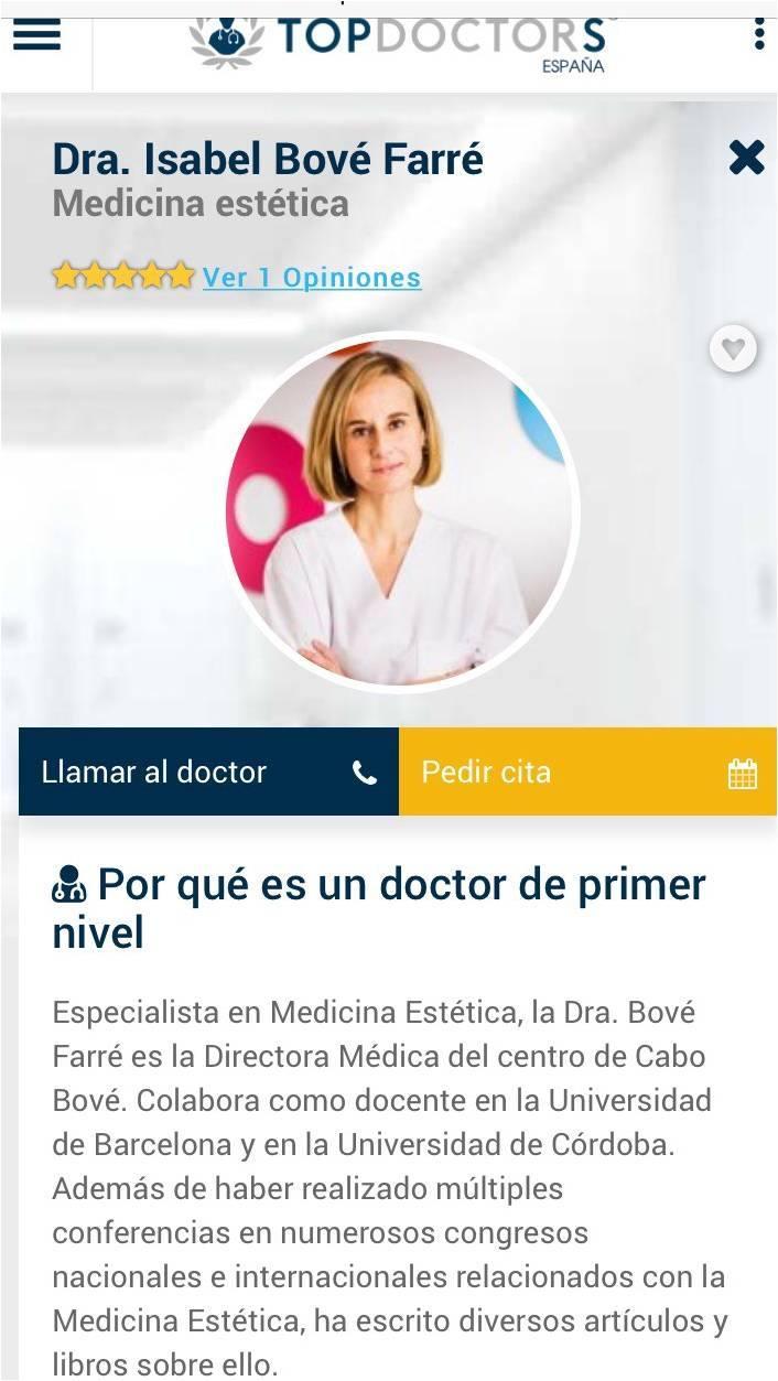 La Dra. Bove en Top Doctors